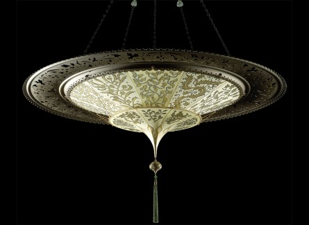 2 Tier_scheheerazade_with_Decorative Metal Rim_ Floreale Pattern_ buy_ From_Luminoso Design