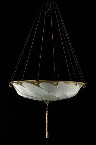 Fortuny Lamp Scudo Saraceno SILK Plain SAGE GREY BUY thru www.luminosodesign.com 403 283-5763