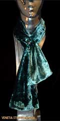 Fortuny inspired Silk Scarf with Bead, Teal www.luminosodesign.com