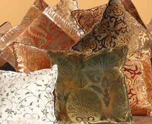 Fortuny inspired Cushions available thru www.luminosodesign.com
