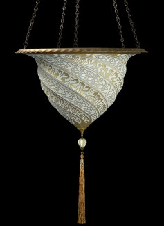 Fortuny_Lamp_ Samarkanda_ Glass_ without Decorative Metal Rim_Silver_Buy From_Luminoso Design_